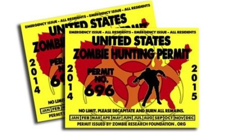 zombie hunter permit 2014 2015