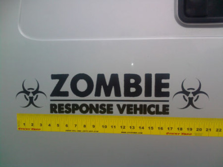 zombie response vehicle 21 inch door or tailgatge