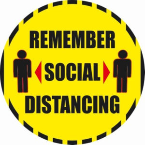 Remember Social Distancing - Floor and Window Stickers Covid-19 Instructional Decals