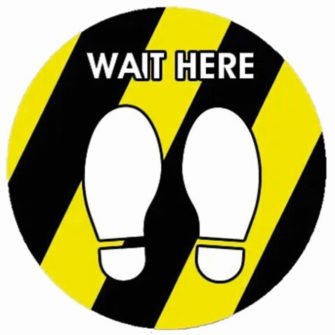 http://warningsignsstore.com/product/wait-here-floor-and-window-stickers/